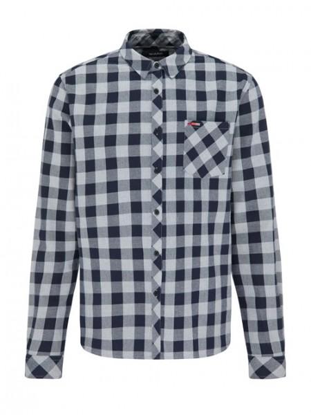 Flannel Hemd, navy/grey 1 Stadelmann Natur Online Shop