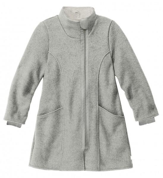 Kinder-Mantel, grau, 100% Schrwoll kbT Stadelmann Natur