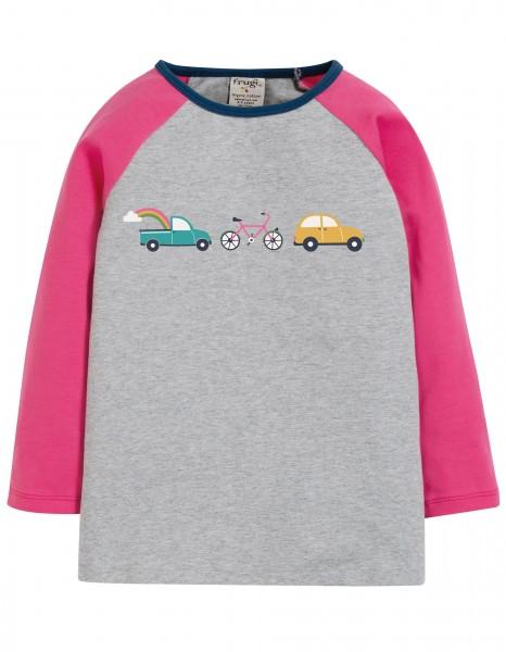 "Kinder Raglan Shirt ""Cars"", grau/pink 1 Stadelmann Natur Online Shop"