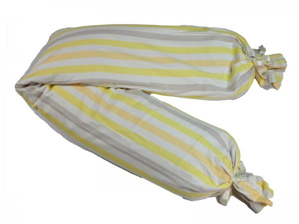Still- & Lagerungsrolle, Dinkel, 160cm, Streifen/gelb 2 Stadelmann Natur Online Shop 1