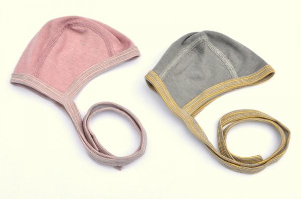 Baby-Häubchen W/S, verschiedene Farben, Wolle/Seide, Cosilana