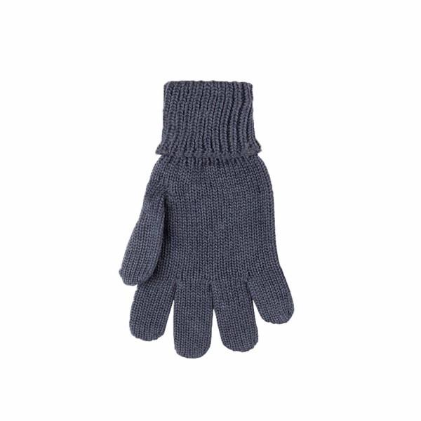 """Fingerhandschuhe """"Wolle-Seide"""", dark blue/grey 1 Stadelmann Natur Online Shop"""
