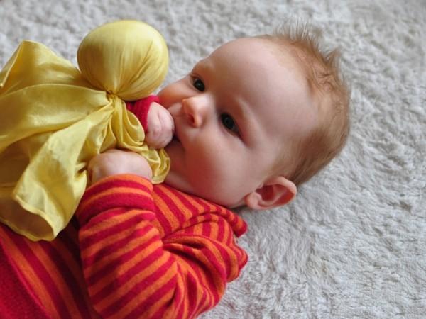 Seidenpüppchen mit Baby 1
