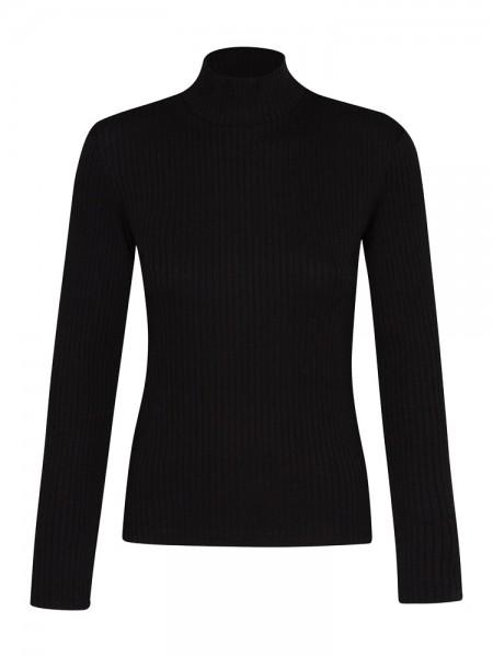 Damen Rollkragen-Pullover, schwarz von GreenBomb 1