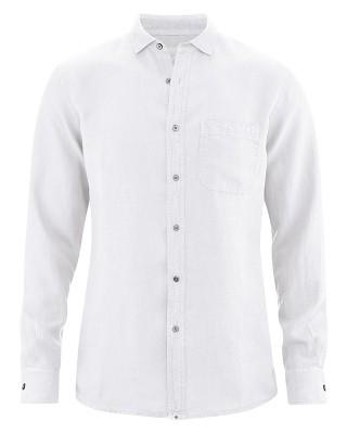 Hanfhemd langarm, weiß, 100% Bio-Hanf, HempAge