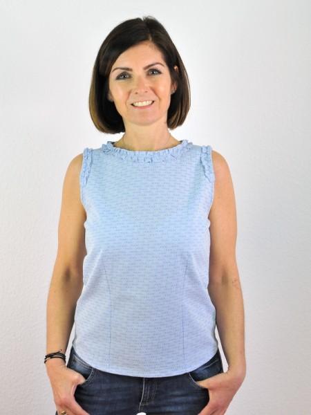 Schicke, ärmellose Bluse mit liebevollen Details aus 100% Baumwolle kbA von Con_Stant