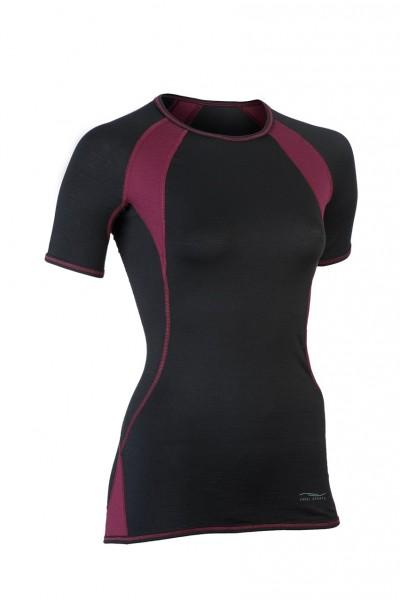 Sportshirt, kurzarm, black/tango red, Stadelmann Natur, Engel