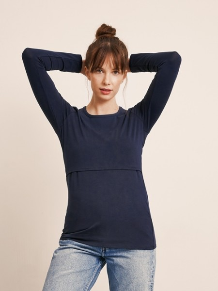 "Stillshirt ""Langarm"", midnight blue 1 Stadelmann Natur Online Shop"