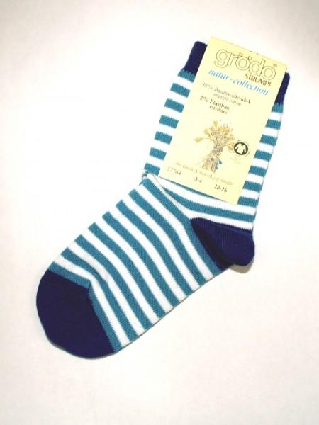 Kindersöckchen blau geringelt 3586 Stadelmann Natur Online Shop