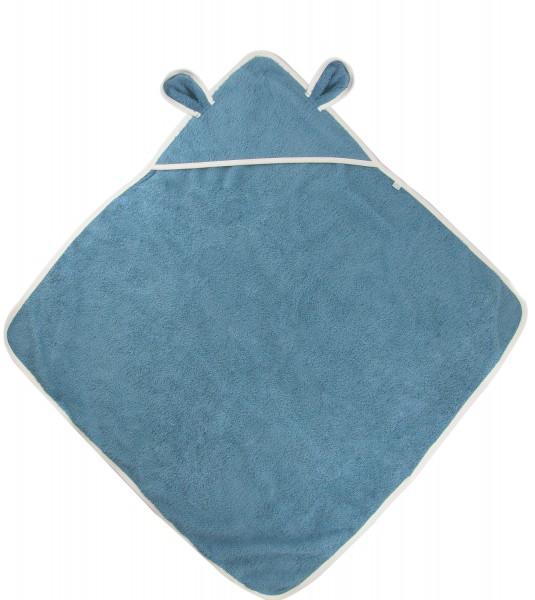 Kaputzenbadetuch von Popolini Mittelblau