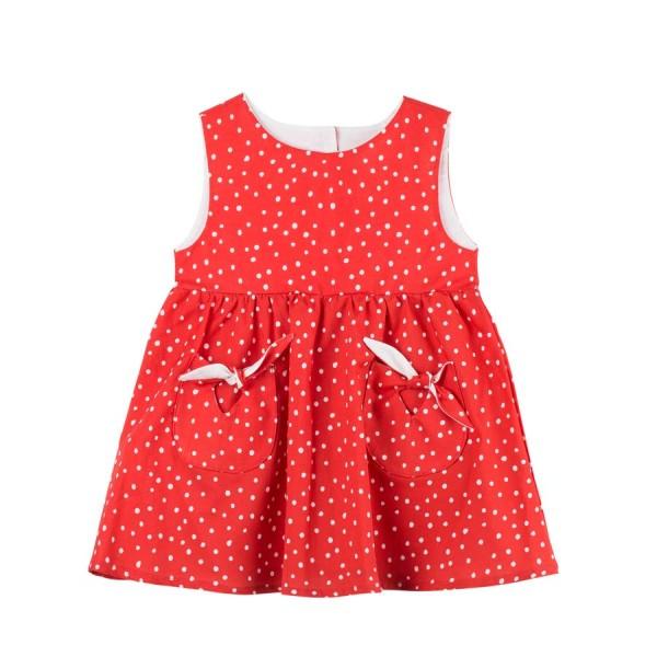 Sommerkleid, mohnrot/weiß 1 Stadelmann Natur Online Shop