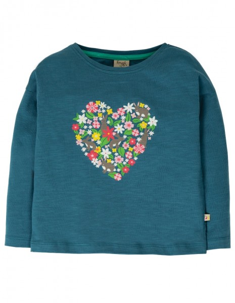 "Longsleeve ""Heart"", steely blue"
