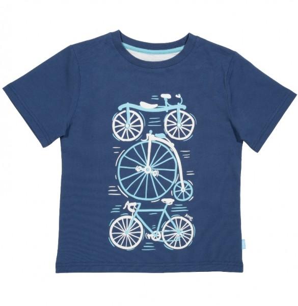 "T-Shirt ""Bike"", blau"