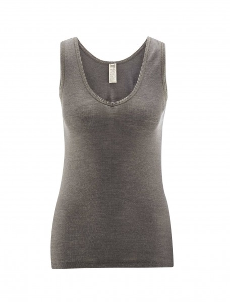 Unterhemd Wolle/Seide, charcoal 1 Stadelmann Natur Online Shop