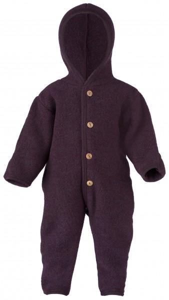 Baby Wollfleece Overall, lila melange Stadelmann Natur