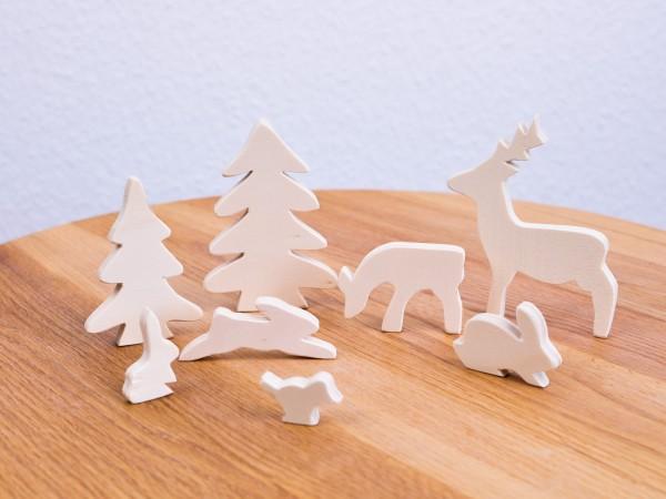 Holzfigurenset handmade Allgäu 1