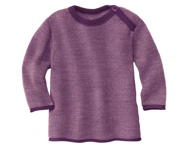 Melange-Pullover, pflaume-rosé, Disana