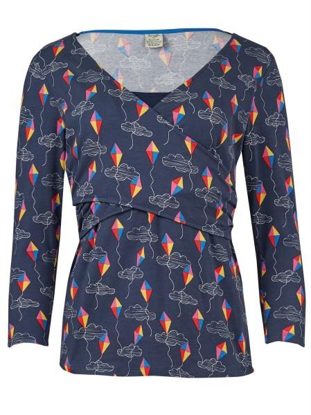 Winnie, Umstands-/Stillshirt, blau
