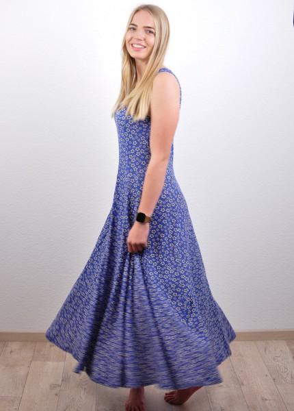 Kleid mit Blumenmuster, blau von Lana 1