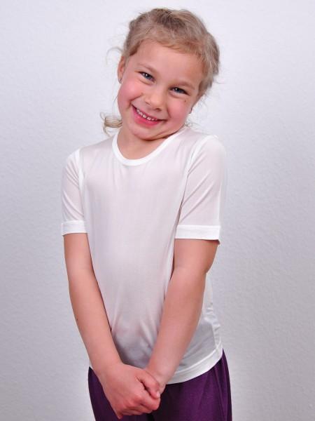 Kinder Seiden-Shirt kurzarm, weiss_3