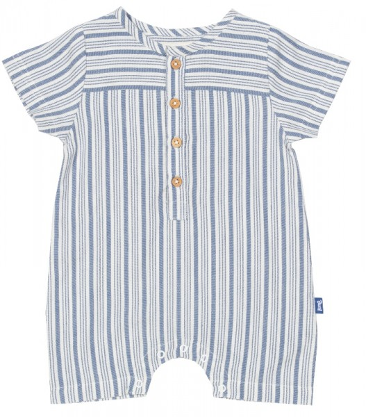 """Baby Einteiler """"Haven"""", blau/weiß, 100% Bio-Baumwolle, kite"""