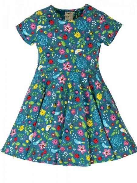 Kurzarm Jersey Kleid, bunt, 100% Baumwolle kbA, Frugi