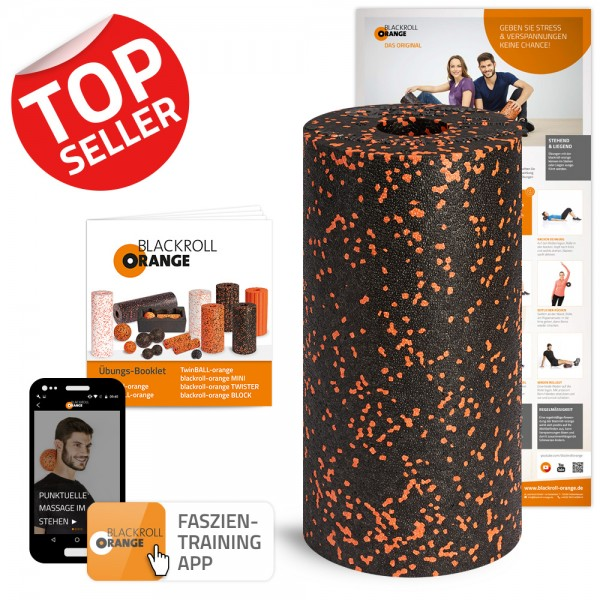 faszienrolle-blackroll-orange-Standard-mit-app