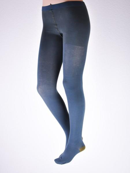 Damen Feinstrumpfhose, legionblau-olive von Grödo vorn