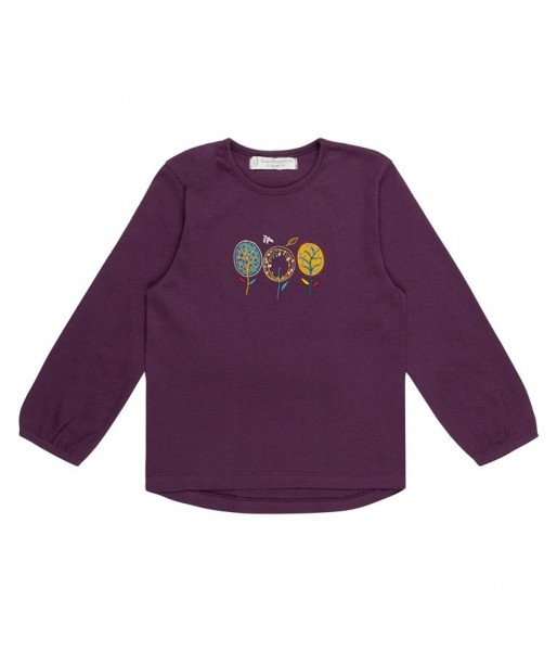 "Shirt ""Naemi"", purple tree 100% organic cotton, sense organics"