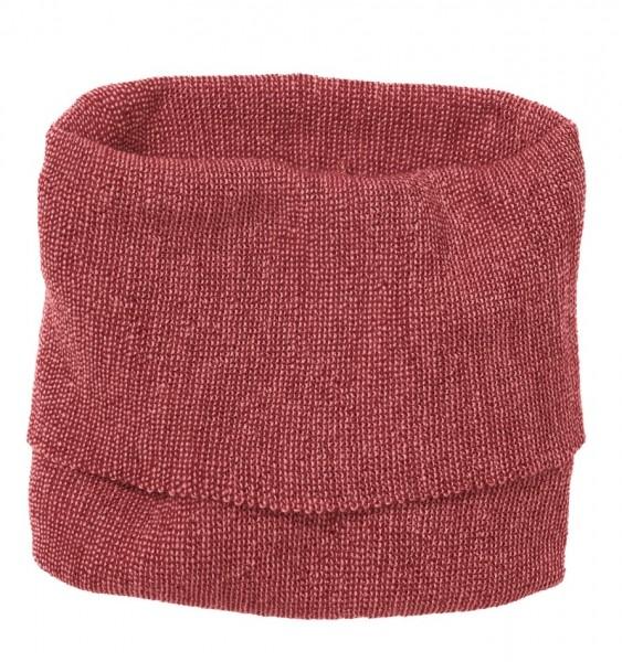 Schauch-Schal für Kinder, bordeaux-rose von Disana