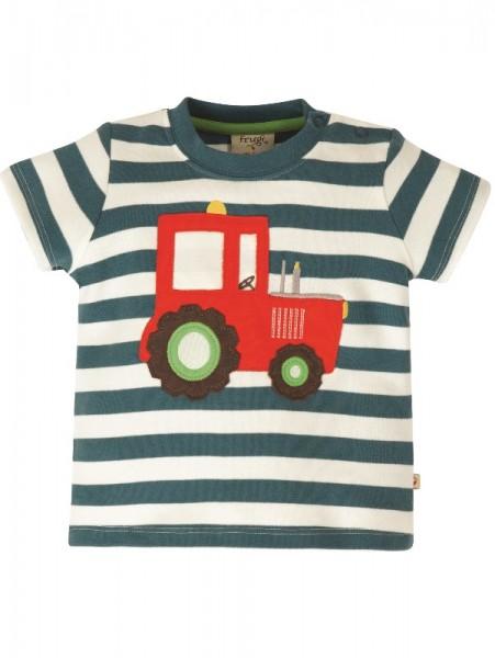"""T-Shirt """"Traktor"""", blau/weiß Streifen, Frugi"""