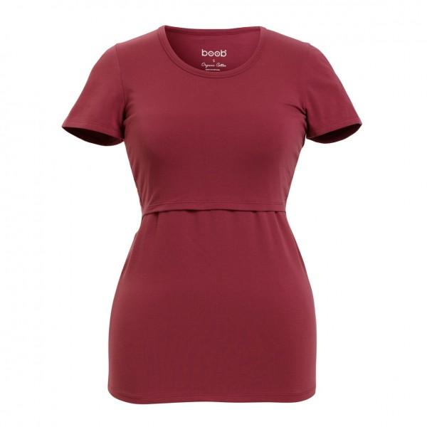 "Umstands- und Still- T-Shirt ""Classic"", soft cherry 1 Stadelmann Natur Online Shop"