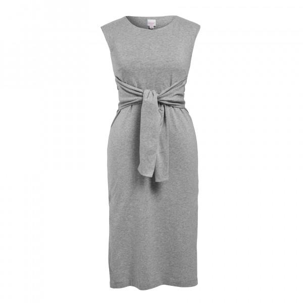 Umstands- und Stillkleid, ärmellos, grey melange 1 Stadelmann Natur Online Shop