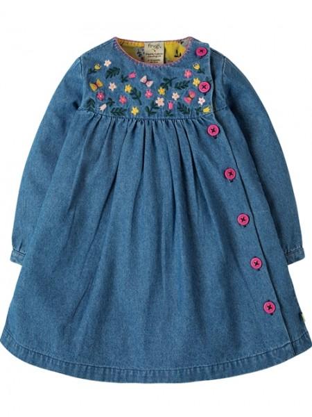 """Baby- und Kinderkleid """"Denim"""", blau/pink, 1, Stadelmann Natur Online Shop"""
