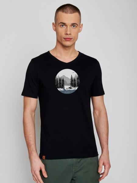 """Shirt """"Nature Camp Fire"""", schwarz von GreenBomb 1"""