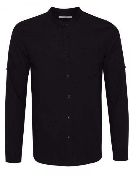 Herren Hemd aus Baumwolle und Leinen, schwarz von GreenBomb 5