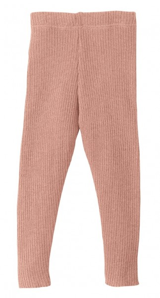 Strick-Leggings, rosé, 100% Schurwolle Bio, Disana