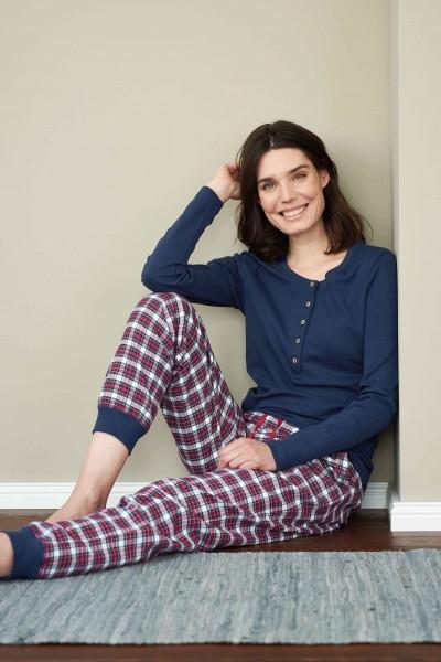Flanellschlafanzug aus 100% Bio-Baumwolle von Living Crafts