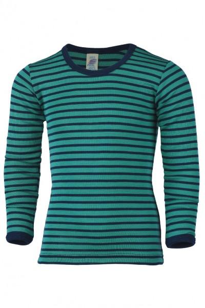 Kinder-Shirt langarm, eisvogel/marine 1 StadelmannNaturOnlineShop