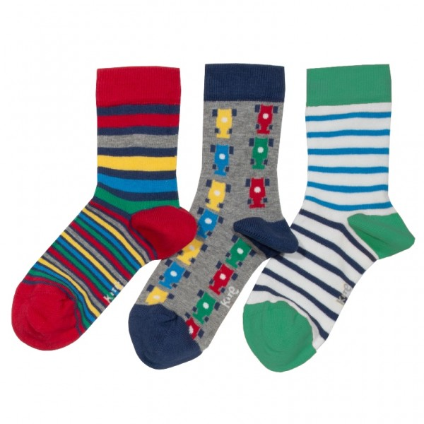 "3er Pack Socken ""Streifen"", bunt"