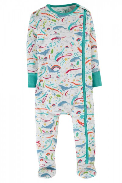 Langarm-Schlafanzug Einteiler, Meerestiere von Frugi 1