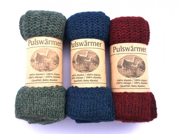 Pulswärmer Linksstrick, verschiedene Farben 1 Stadelmann Natur Online Shop
