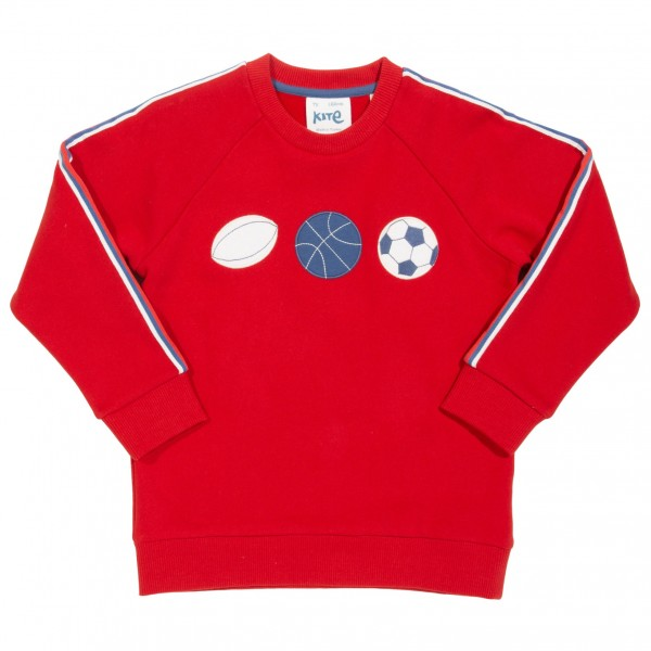 "Sweatshirt ""Team Time"", rot, 100% Baumwolle,kite"