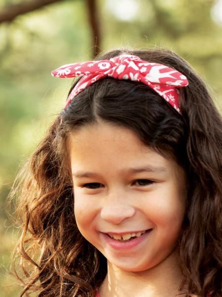 Haarband, rot-gemustert von Frugi