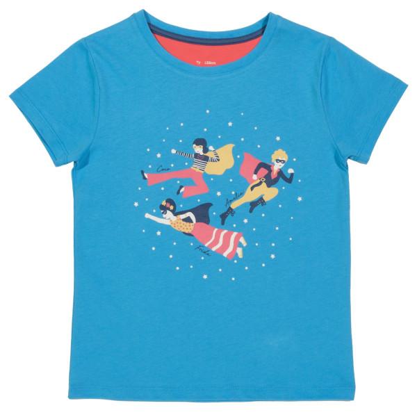"Mädchen T-Shirt ""super girls"", azurblau 1 Stadelmann Natur Online Shop"