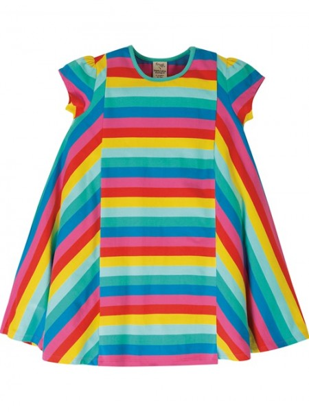 Elodie Twirly Dress, 95% Bio-Baumwolle, Frugi