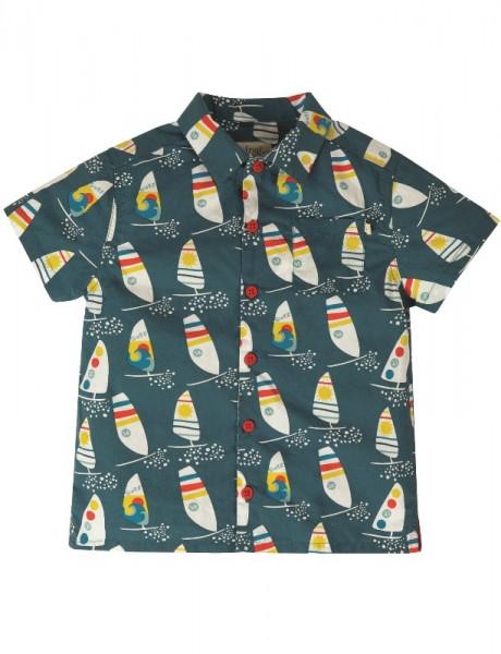 "Hawaiihemd ""Harvey"", blau/bunt, 100% Baumwolle, Frugi"