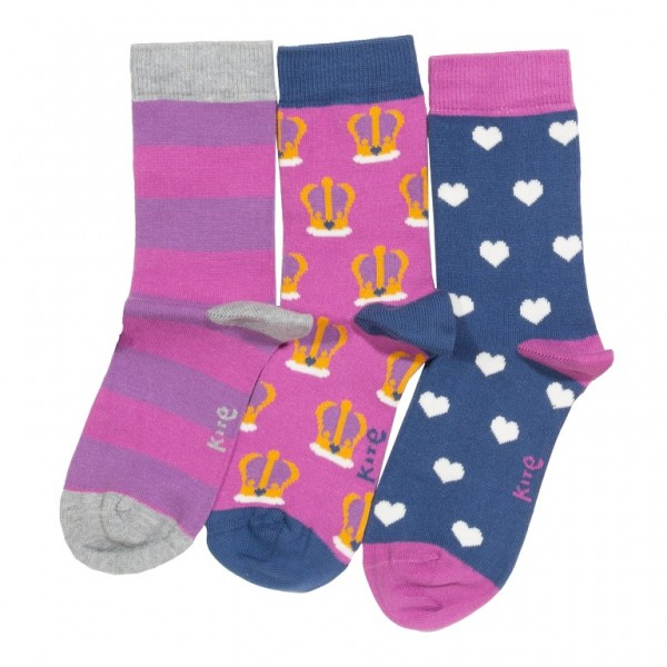 """3er Pack Socken """"Queen of Hearts"""", bunt, kite"""