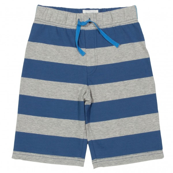 Sweat Shorts, blau/grau gestreift 1 Stadelmann Natur Online Shop