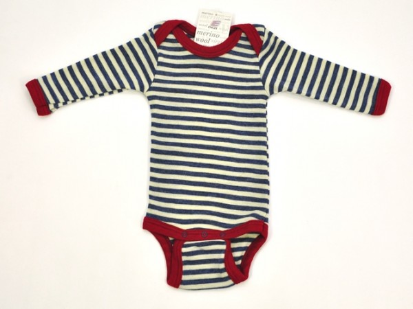 Baby-Body langarm, blau melange/natur 1 Stadelmann Natur Online Shop
